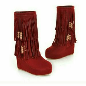 Shoes - Beautiful burgundy suede boots