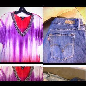 Denim - Blouse & Jeans Bundle!