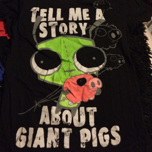 Tell Me A Story About Giant Pigs GIR Shirt