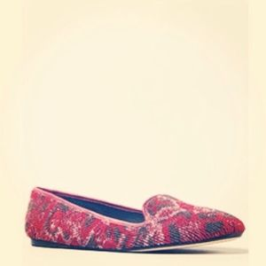 House of Harlow 1960 Shoes - SOLD. House of Harlow Beaded Jeweled Smoking Flats