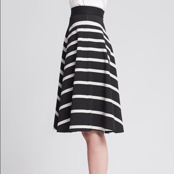 Banana Republic Skirts - Banana republic mixed stripe midi circle skirt