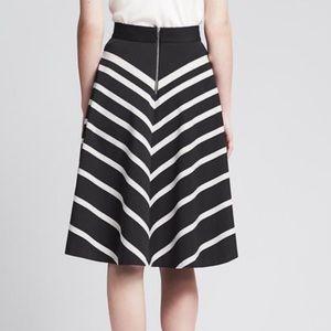 Banana Republic Skirts - Banana republic mixed stripe midi circle skirt
