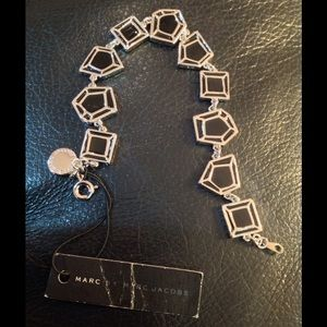 Marc Jacobs Jewelry - Marc Jacobs Silver and Black Enamel Bracelet