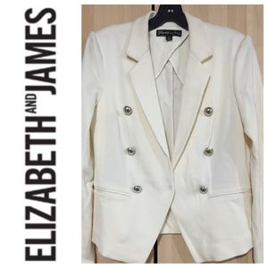 REDUCEDELIZABETH & JAMES White Blazer