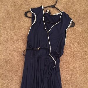 ASOS navy and cream dress size 4
