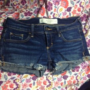 Abercrombie and Fitch denim short shorts.