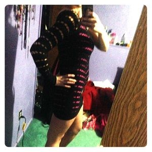 Brand new mesh bebe dress