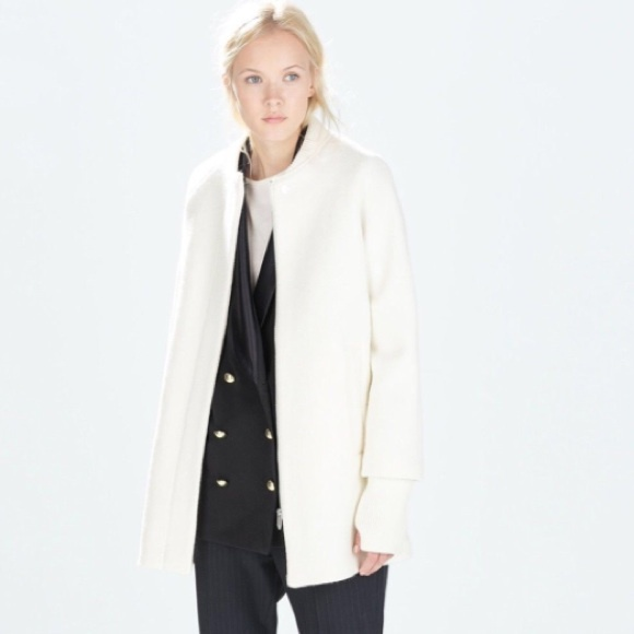 24% off Zara Jackets & Blazers - 🎉SALE🎉 Zara white cape coat ...
