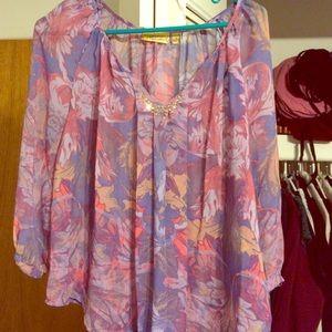 Sheer Simply Vera Wang blouse