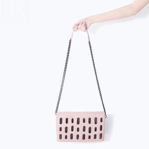 Host Pick Zara pink nude messenger purse