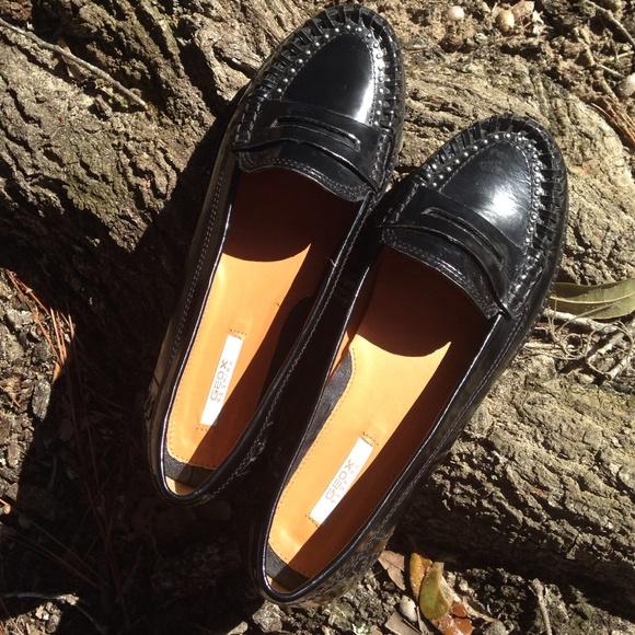 aae091eee9 Geox Respira Shoes - Geox Respira Black Italian Patent Leather Loafer