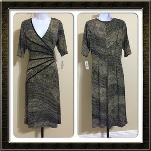 Connected Apparel Dresses & Skirts - Connected Apparel Brown & Black Dress Size 12