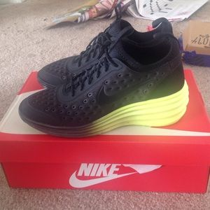 Nike Shoes - Nike lunar elite sky hi shoes black yellow 8