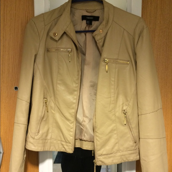 40% off Forever 21 Tops - Forever 21 Light Brown/Tan Leather ...