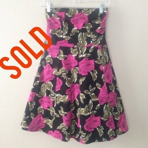 Dresses & Skirts - SOLD In Bundle🔻🔻🔻🔻🔻Floral Strapless Dress