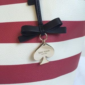 FINAL! NWOT Kate Spade Red/White Striped Tote