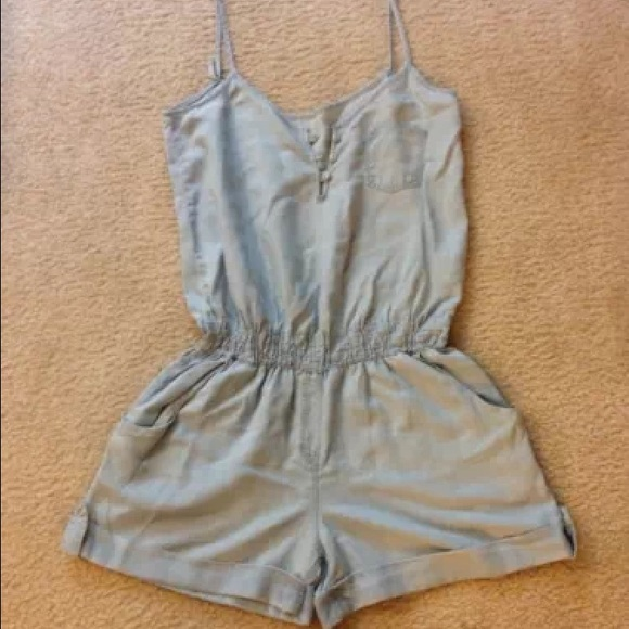 763797cb8e9 Mango light wash denim jumpsuit