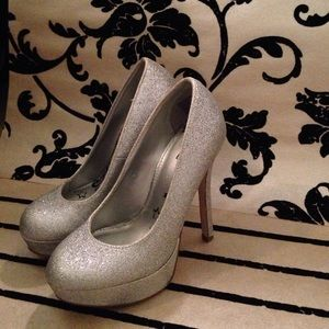 Shoes - Size 5 glitter heels. ;)