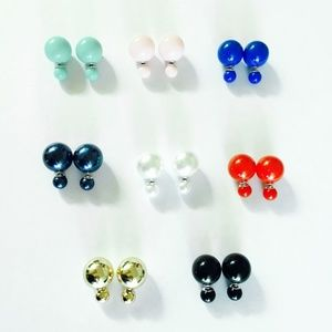 2 pairs x$12 New! double sided earrings