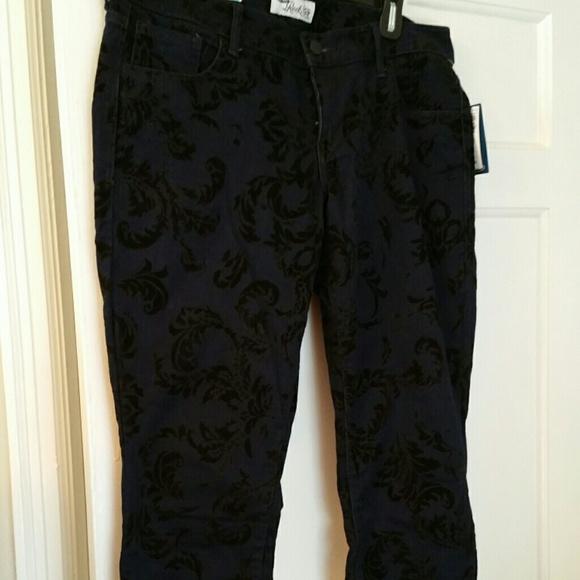 Old Navy Denim - Old Navy Skinny Velvet Printed Jeans