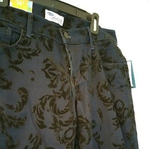 Old Navy Jeans - Old Navy Skinny Velvet Printed Jeans