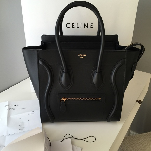 SOLD Celine Micro Luggage Tote Bag Black BNWT dca155c869d71