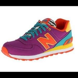womens new balance purple 574 pop safari trainers