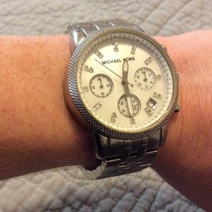 Michael Kors Mother of Pearl and Crystal Watch