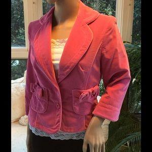Pink velvet Cynthia Steffe jacket