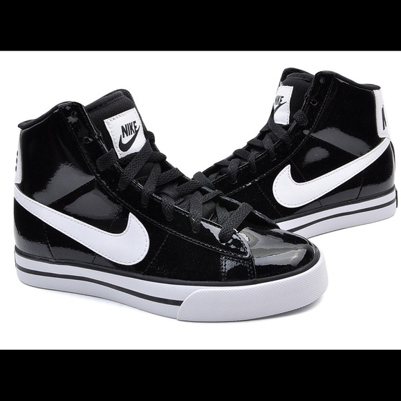 9b315500 Nike Sweet Classic High Top-- Black Patent