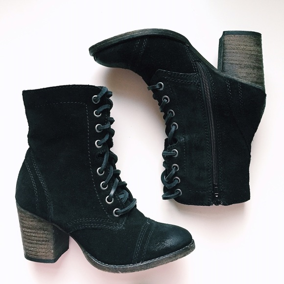770dff358bf Steve Madden black suede high heel booties  boots.  M 54e51ff299086a49530007f4
