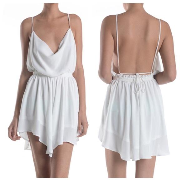 73% off Dresses &amp- Skirts - Large white elastic waist open back ...