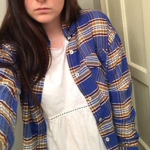 BRAND NEW blue flannel