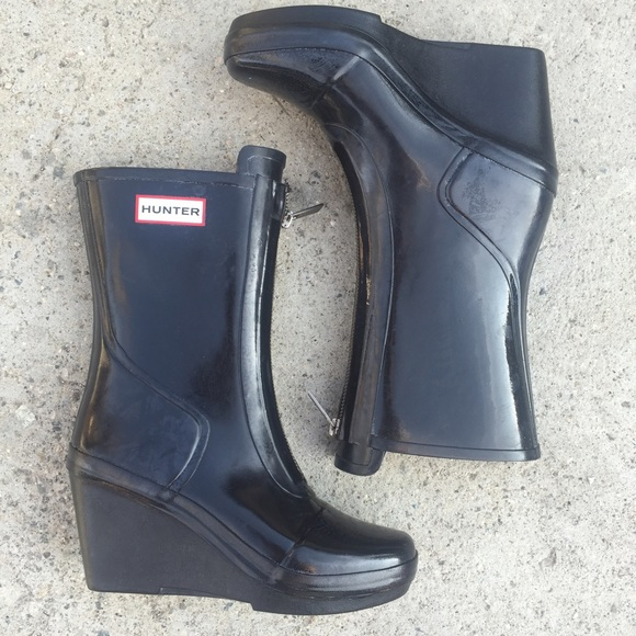 store huge selection of factory outlet HUNTER BOOTS SZ 5 WOMENS WEDGE RAIN BOOT HEEL