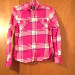 Pink American Eagle Flannel
