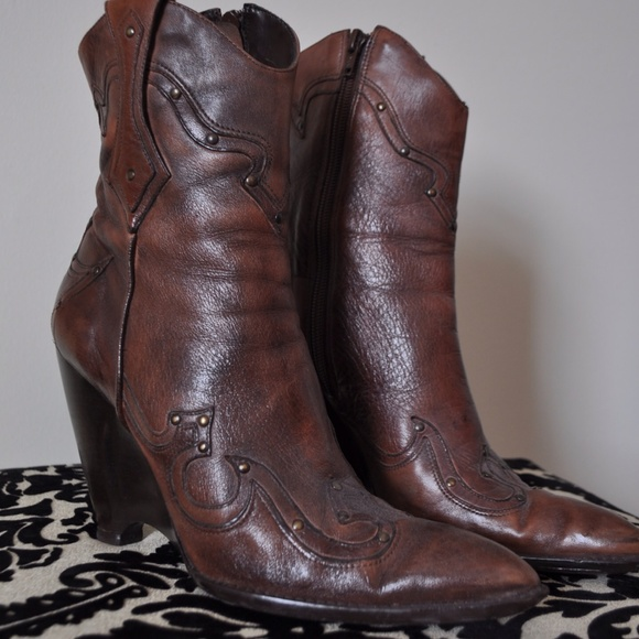 Bcbg Girls Western Cowboy Wedge Ankle