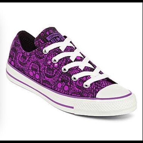 converse shoes purple skull heels for women s