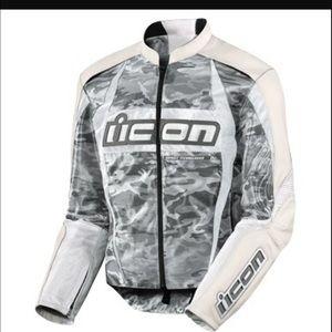 Icon Merc Motorcycle Jacket - Camo 150 obo