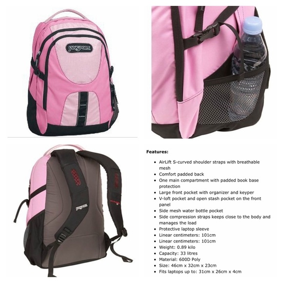 50% off JanSport Accessories - JanSport Pink Big 3-Compartment ...