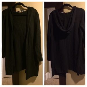 H&M Sweaters - H & M oversized, slouchy, hooded cardigan