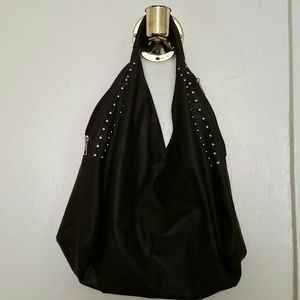 Brown faux leather hobo bag!