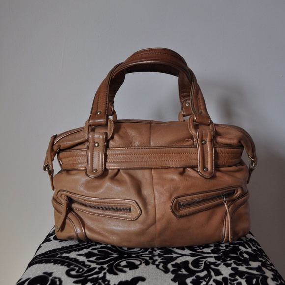 Cole Haan Handbags - Cole Haan Light Brown Leather Hobo Bag with straps 44e7471d5ed54
