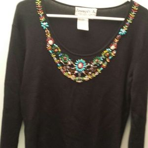 Joseph A beaded black 3/4 sleeve - make an offer