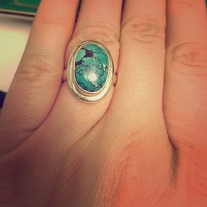 Jewelry - Sold in bundle-Sterling turquoise ring size7