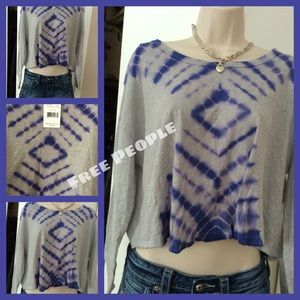 SALE Free People Adorable Purple/Gray  Shirt!
