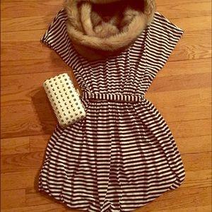 F21 Striped Skater Dress