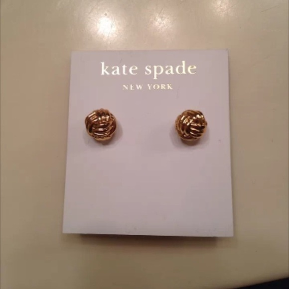 641ba7fa8 kate spade Jewelry | Nwt Spade Gold Knotted Stud Earrings | Poshmark