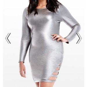 Metallic Cutout Dress