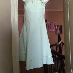 teeze me Dresses & Skirts - Cute lime green and white striped dress
