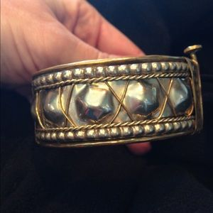 Mixed metal artisan bracelet
